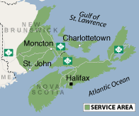 Our Nova Scotia Service Area